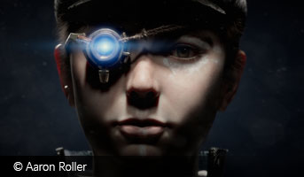 Aaron Roller sci-fi steampunk character 3D contest