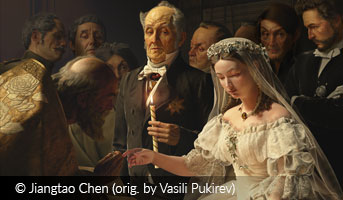 Jiangtao Chen The unequal marriage painting by Vasili Pukirev 3D contest